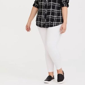 🆕 White Crop Legging 1X 14 16 Torrid NWT